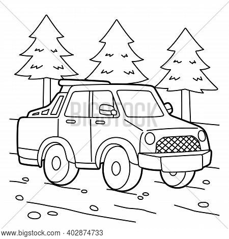 Cute And Funny Coloring Page Of A Off Road Truck. Provides Hours Of Coloring Fun For Children. To Co