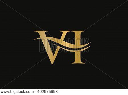 Initial Monogram Letter Vi Logo Design Vector. Vi Letter Logo Design With Modern Trendy