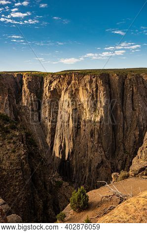 Vibrant Colors In The Sky And Canyon In Morning Light Over Black Canyon Of The Gunnison