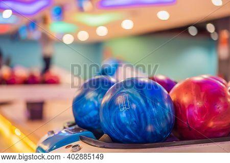 Colorful Bawling Ball Waiting To Be Chosen