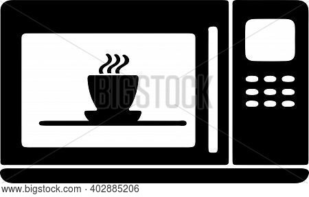 Microwave Icon Isolated On White Background , Service, Serviceman, Sign