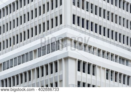 Exterior Of Modern Architecture. Building Abstarct Background