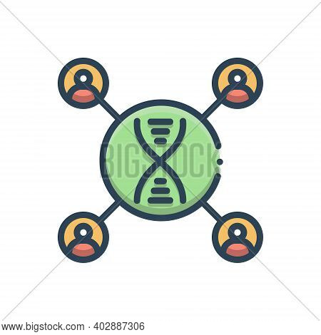 Color Illustration Icon For Dna-matching Dna Matching Amplification Genetically