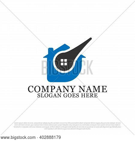 Modern D Initial In Name Real Estate Logo Vector, Best For Business And Company Logo Template