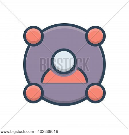 Color Illustration Icon For Link Submission Building