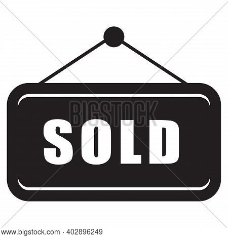 Sold Icon Isolated On White Background From E-commerce Line Collection. Sold Icon Trendy And Modern