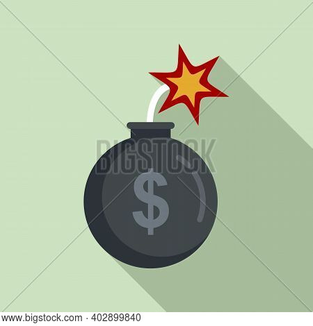 Bomb Trade War Icon. Flat Illustration Of Bomb Trade War Vector Icon For Web Design