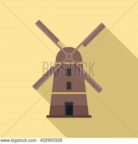 Sweden Mill Icon. Flat Illustration Of Sweden Mill Vector Icon For Web Design