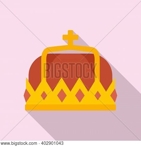 Swedish Royal Crown Icon. Flat Illustration Of Swedish Royal Crown Vector Icon For Web Design