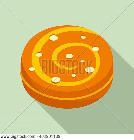 Swedish Bake Cookie Icon. Flat Illustration Of Swedish Bake Cookie Vector Icon For Web Design