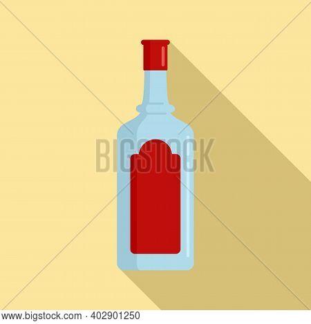 Sweden Vodka Bottle Icon. Flat Illustration Of Sweden Vodka Bottle Vector Icon For Web Design