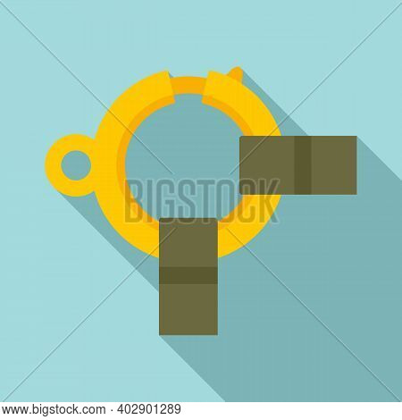 Industrial Climber Rings Icon. Flat Illustration Of Industrial Climber Rings Vector Icon For Web Des