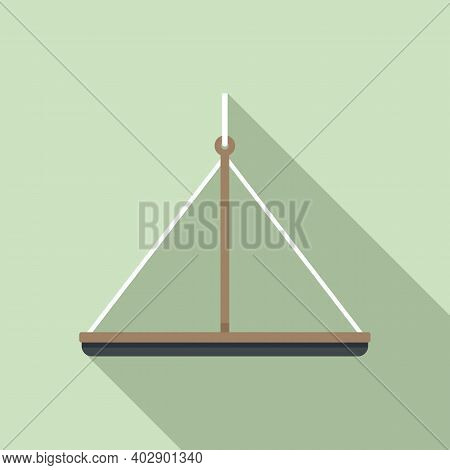 Industrial Climber Platform Icon. Flat Illustration Of Industrial Climber Platform Vector Icon For W