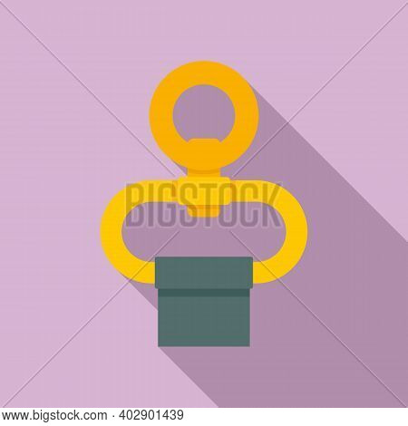 Industrial Climber Belt Ring Icon. Flat Illustration Of Industrial Climber Belt Ring Vector Icon For