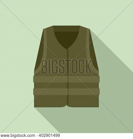 Industrial Climber Vest Icon. Flat Illustration Of Industrial Climber Vest Vector Icon For Web Desig
