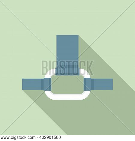 Industrial Climber Connect Ring Icon. Flat Illustration Of Industrial Climber Connect Ring Vector Ic