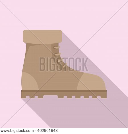 Industrial Climber Boots Icon. Flat Illustration Of Industrial Climber Boots Vector Icon For Web Des