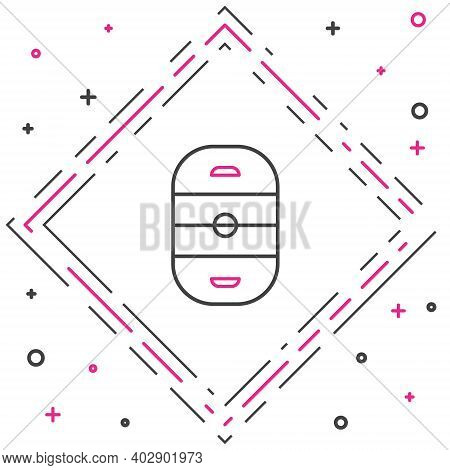 Line Ice Hockey Rink Icon Isolated On White Background. Hockey Arena. Colorful Outline Concept. Vect