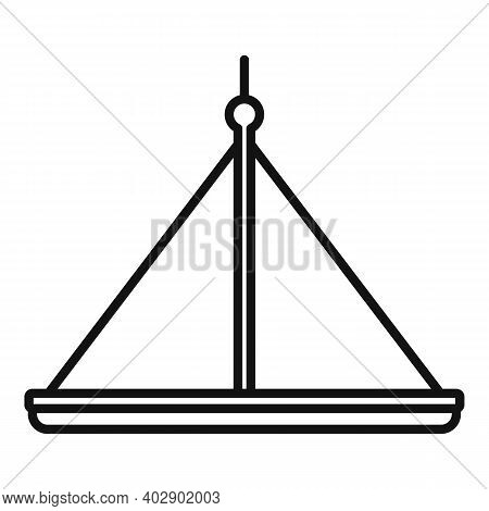 Industrial Climber Platform Icon. Outline Industrial Climber Platform Vector Icon For Web Design Iso