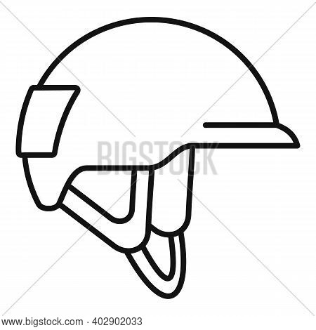Industrial Climber Helmet Icon. Outline Industrial Climber Helmet Vector Icon For Web Design Isolate