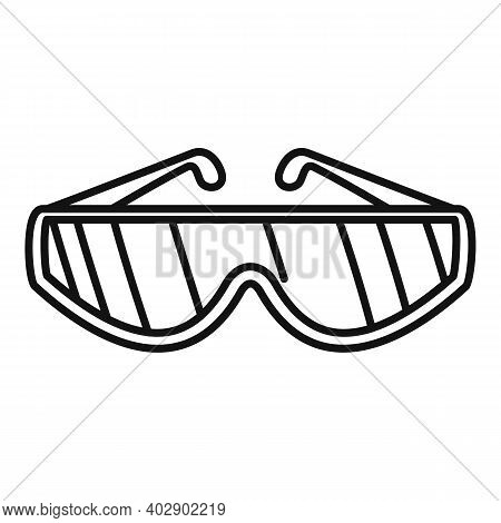Industrial Climber Protection Glasses Icon. Outline Industrial Climber Protection Glasses Vector Ico