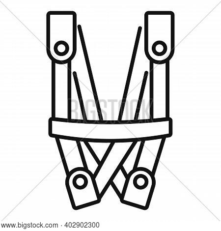 Industrial Climber Security Belt Icon. Outline Industrial Climber Security Belt Vector Icon For Web