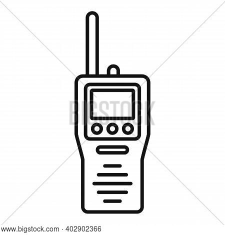 Industrial Climber Walkie Talkie Icon. Outline Industrial Climber Walkie Talkie Vector Icon For Web