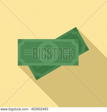 Cash Realtor Icon. Flat Illustration Of Cash Realtor Vector Icon For Web Design