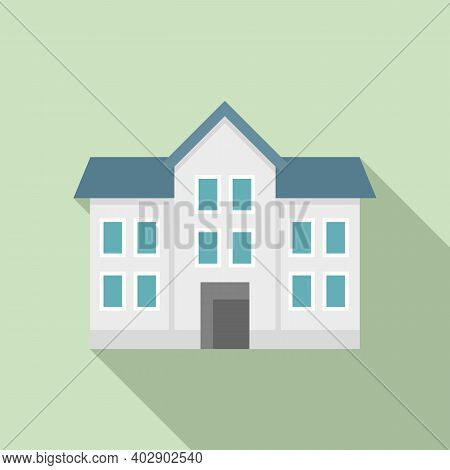 Realtor House Icon. Flat Illustration Of Realtor House Vector Icon For Web Design
