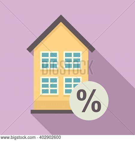 Realtor Percent House Buy Icon. Flat Illustration Of Realtor Percent House Buy Vector Icon For Web D
