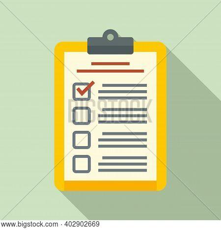 Realtor Clipboard Icon. Flat Illustration Of Realtor Clipboard Vector Icon For Web Design