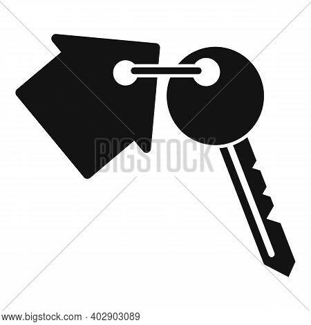 Realtor House Key Icon. Simple Illustration Of Realtor House Key Vector Icon For Web Design Isolated