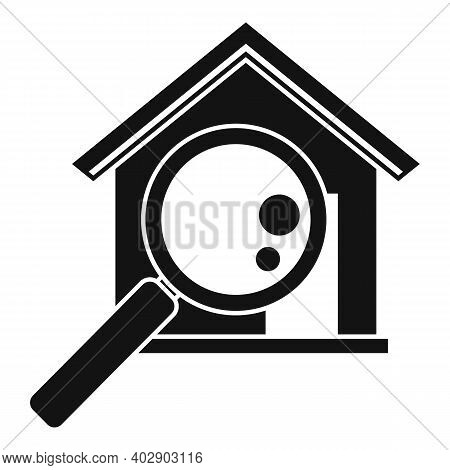 Realtor Search House Icon. Simple Illustration Of Realtor Search House Vector Icon For Web Design Is