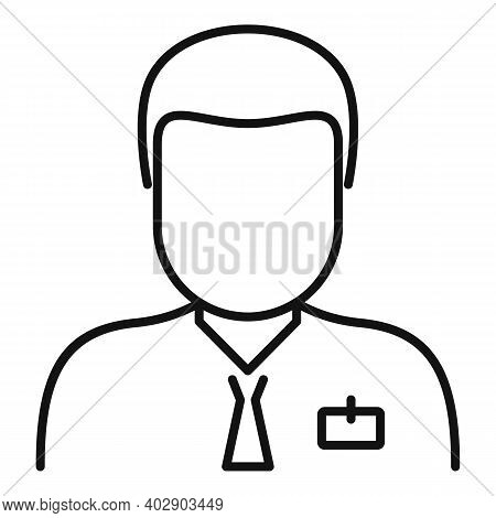 Man Realtor Icon. Outline Man Realtor Vector Icon For Web Design Isolated On White Background