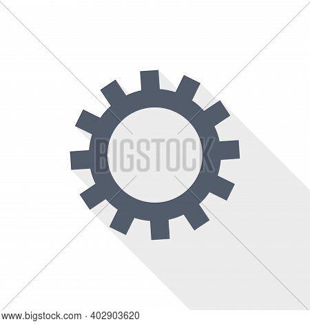 Gear, Cogwheel Vector Icon, Flat Design Illustration In Eps 10