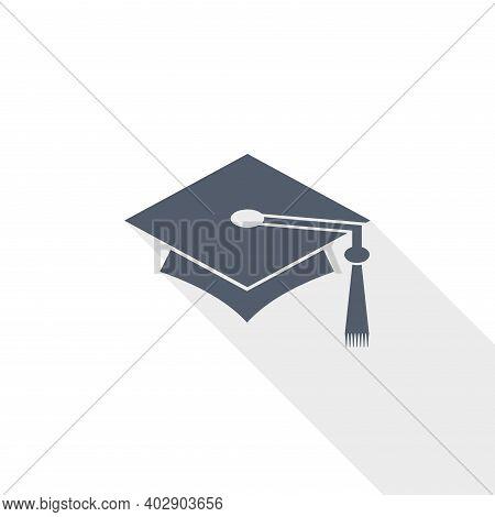 Education Vector Icon, Flat Design Illustration In Eps 10