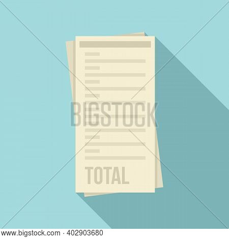 Total Payment Utilities Icon. Flat Illustration Of Total Payment Utilities Vector Icon For Web Desig