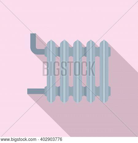 Hot House Radiator Icon. Flat Illustration Of Hot House Radiator Vector Icon For Web Design