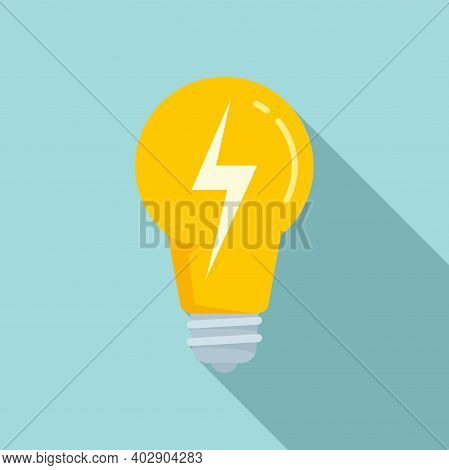 Electric Bulb Light Icon. Flat Illustration Of Electric Bulb Light Vector Icon For Web Design