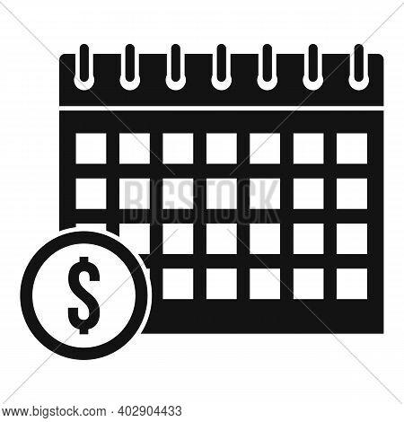 Calendar Utilities Icon. Simple Illustration Of Calendar Utilities Vector Icon For Web Design Isolat