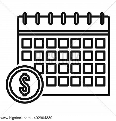 Calendar Utilities Icon. Outline Calendar Utilities Vector Icon For Web Design Isolated On White Bac