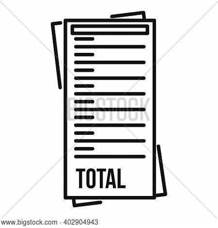 Total Payment Utilities Icon. Outline Total Payment Utilities Vector Icon For Web Design Isolated On