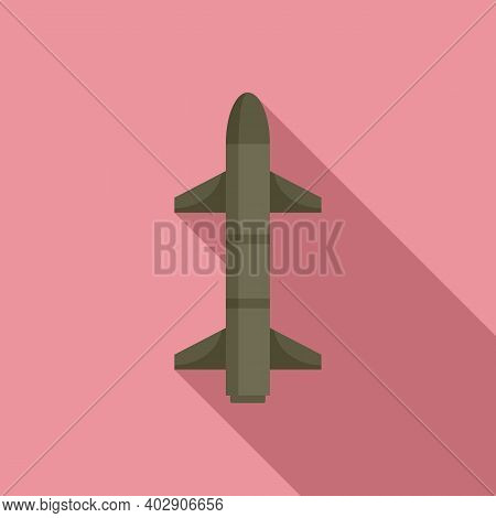 Missile Sky Icon. Flat Illustration Of Missile Sky Vector Icon For Web Design