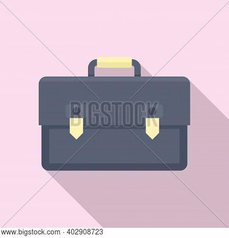 Estimator Briefcase Icon. Flat Illustration Of Estimator Briefcase Vector Icon For Web Design