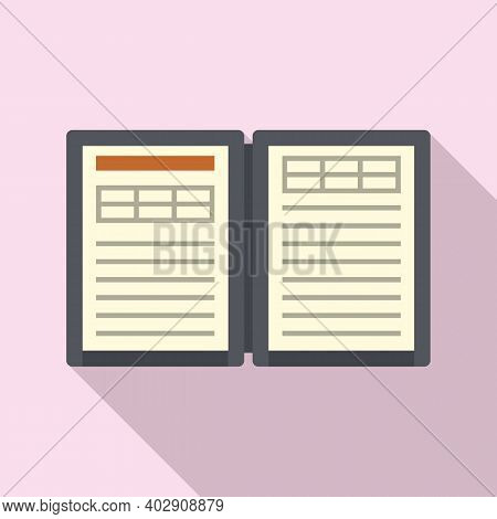 Electronic Book Estimator Icon. Flat Illustration Of Electronic Book Estimator Vector Icon For Web D