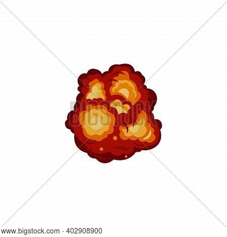 Colorful Explode Bomb A Flat Cartoon Vector Illustration