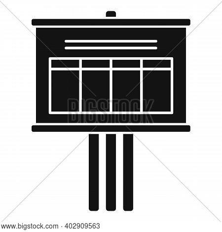 Billboard Estimator Icon. Simple Illustration Of Billboard Estimator Vector Icon For Web Design Isol