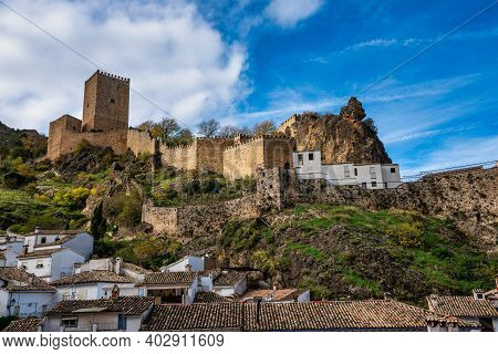 View Over Yedra Castle In Cazorla Town, Jaen Province, Andalusia, Spain.