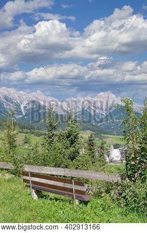 View To Maria Alm Am Steinernen Meer,salzburger Land,austria