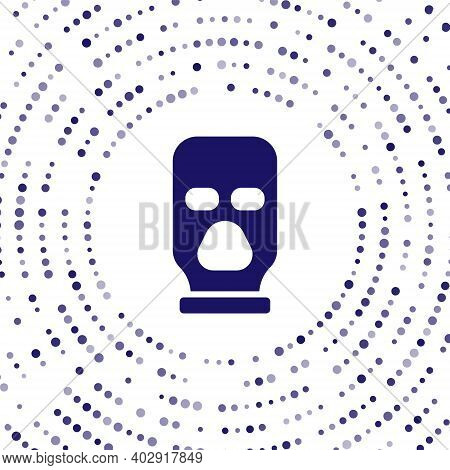 Blue Balaclava Icon Isolated On White Background. A Piece Of Clothing For Winter Sports Or A Mask Fo